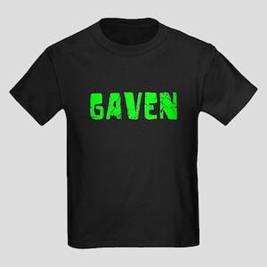 Gaven Faded (Green) Kids Dark T-Shirt