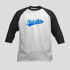 Retro Tristin (Blue) Kids Baseball Jersey