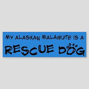Rescue Dog Alaskan Malamute Bumper Sticker