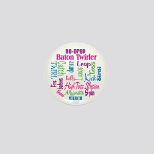 Baton Twirler Mini Button