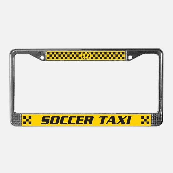 Soccer Taxi License Plate Frame
