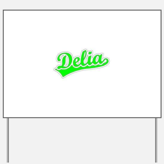 Retro Delia (Green) Yard Sign