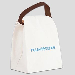 Telemarketer Profession Design Canvas Lunch Bag
