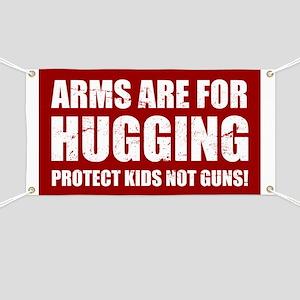 Gun Control Arms Hugging Banner
