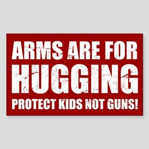 Gun Control Arms Hugging Sticker