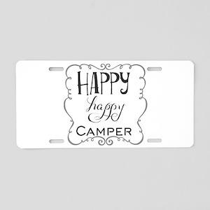 Happy Camper Aluminum License Plate