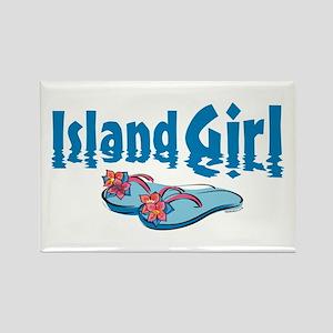 Island Girl 2 Rectangle Magnet