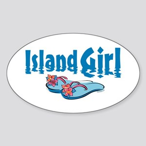 Island Girl 2 Oval Sticker