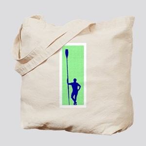 READY TO ROW GREEN BLUE PAINTED Tote Bag