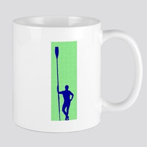 READY TO ROW GREEN BLUE PAINTED Mug