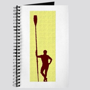 READY TO ROW YELLOW RED PAINTED Journal