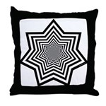 Animated Stars Throw Pillow