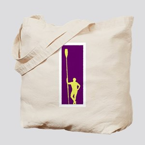 READY TO ROW PURPLE YELLOW PAINTED Tote Bag