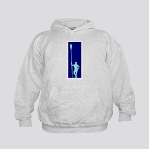 READY TO ROW BLUE LIGHT BLUE PAINTED Kids Hoodie