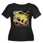 Pacific Treefrog Women's Plus Size Scoop Neck Dark
