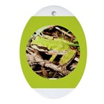 Pacific Treefrog Oval Ornament
