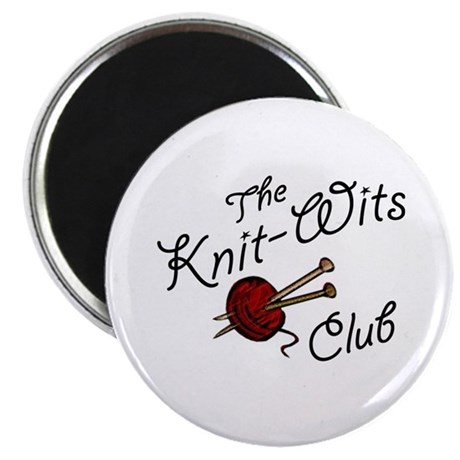 """Knit Wit Club 2.25"""" Magnet (10 pack)"""