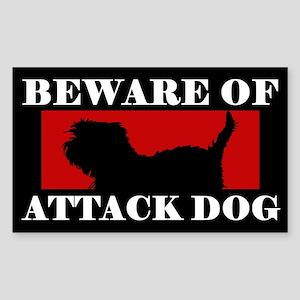 Beware of Attack Dog Affenpinscher Sticker