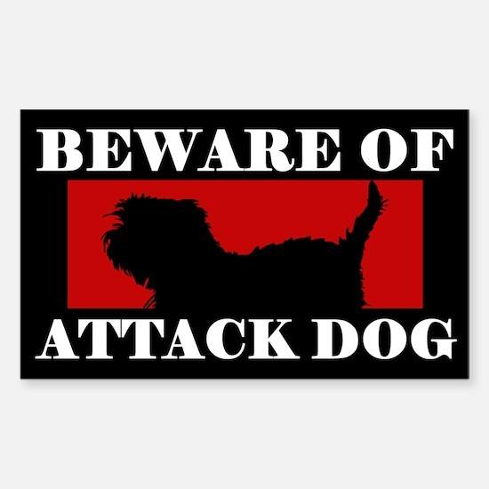 Beware of Attack Dog Affenpinscher Decal