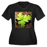 Poison Oak Women's Plus Size V-Neck Dark T-Shirt