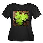 Poison Oak Women's Plus Size Scoop Neck Dark T-Shi