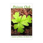Poison Oak Rectangle Sticker