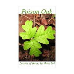 Poison Oak Rectangle Sticker 50 pk)