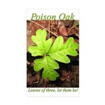 Poison Oak Rectangle Sticker 10 pk)