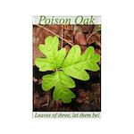 Poison Oak Rectangle Magnet (100 pack)