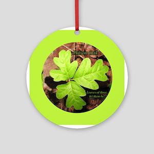 Poison Oak Ornament (Round)