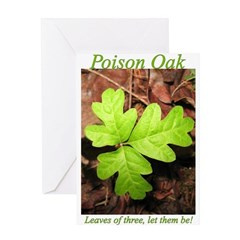 Poison Oak Greeting Card