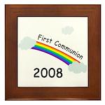 1st Communion Framed Tile