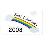 1st Communion Rectangle Sticker 50 pk)