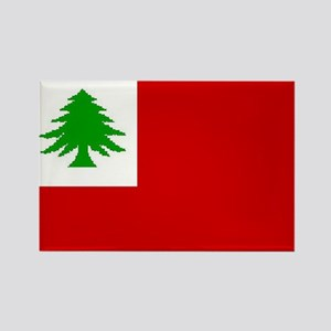 New England Flag Rectangle Magnet