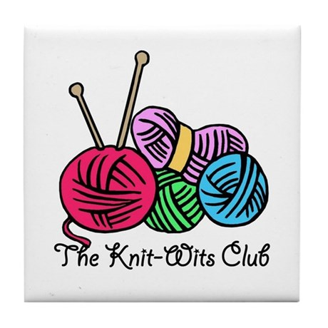 Knit Wits Club Tile Coaster