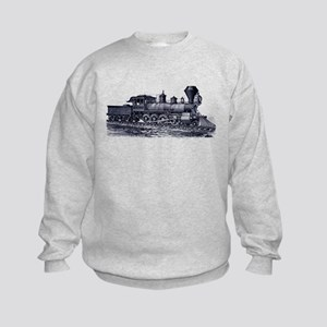 Locomotive (Blue) Kids Sweatshirt