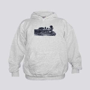Locomotive (Blue) Kids Hoodie