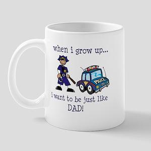 Future Policeman just like Dad Mug