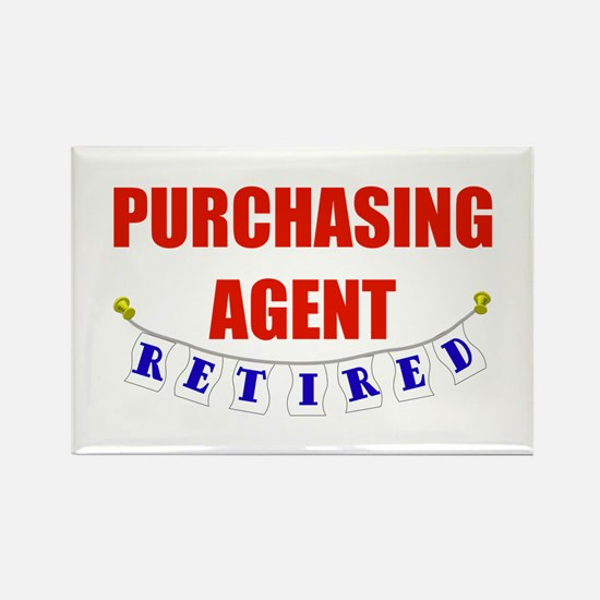 Retired Purchasing Agent Rectangle Magnet