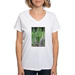 Horsetail Equisetum Women's V-Neck T-Shirt