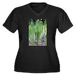 Horsetail Equisetum Women's Plus Size V-Neck Dark