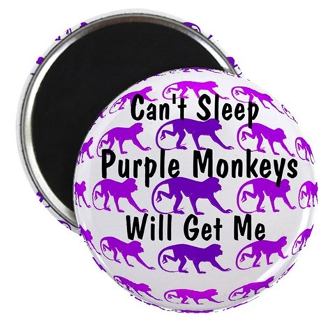 "Can't Sleep Monkeys Will Get 2.25"" Magnet (10 pack"