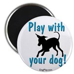 Play With Your Dog Magnet
