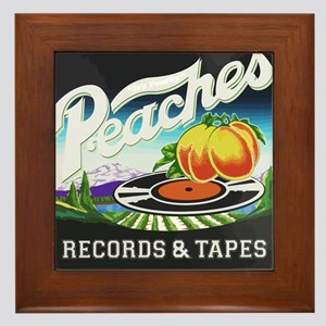 Peaches Records and Tapes logo Framed Tile