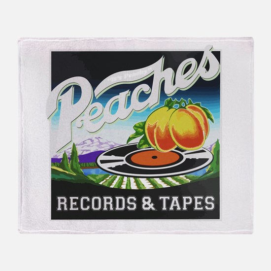 Peaches Records and Tapes logo Throw Blanket