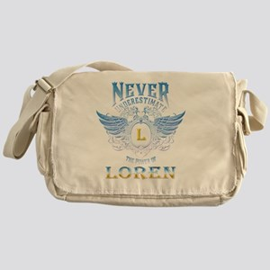 Never underestimate the power of Lor Messenger Bag