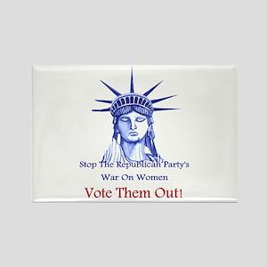 Stop Republicans War On Women Rectangle Magnet