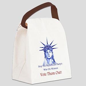 Stop Republicans War On Women Canvas Lunch Bag