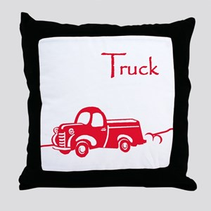 The Red Truck Throw Pillow