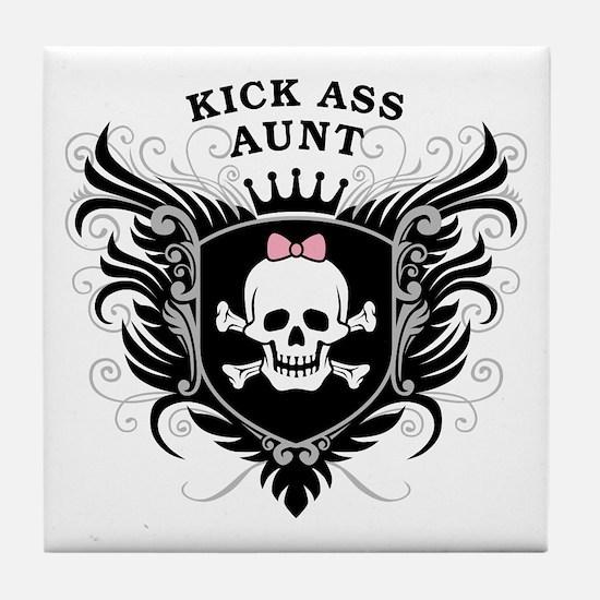 Kick Ass Aunt Tile Coaster